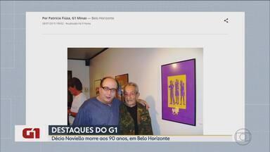 G1 no BDMG: Décio Noviello morre aos 90 anos, em Belo Horizonte - A causa da morte não foi informada. Décio era artista plástico, tinha ampla atuação no teatro e nas escolas de samba. Diretor teatral Pedro Paulo Cava lamenta a morte do amigo.