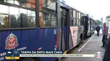 Reajuste das tarifas de ônibus municipais da EMTU subiram em todo o estado - Usuários terão que pagar mais para circular em linhas intermunicipais