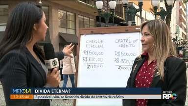 Dívida no cartão de crédito: especialista tira dúvidas de telespectadores ao vivo - Meio-Dia Paraná traz dicas para se livrar desta dor de cabeça.