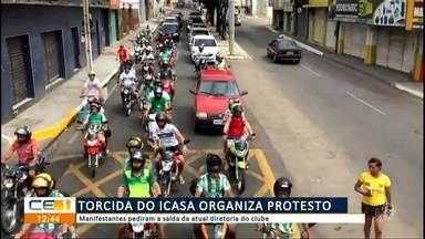 Torcida do Icasa organiza protesto - Saiba mais em g1.com.br/ce
