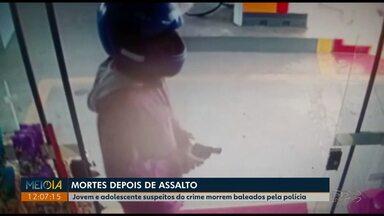 Suspeitos de assaltar posto de combustíveis morrem baleados pela PM em Imbituva - Roubo foi pouco depois da meia-noite de sábado (27) em Imbituva.