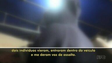 Mulher é mantida refém por assaltantes durante quase 12 horas - Ela foi abordada por criminosos em Cascavel e solta em Foz do Iguaçu.