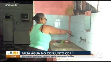 Moradores do Conjunto CDP em Belém reclamam de problema com abastecimento de água - A Cosanpa disse que a área está sendo abastecida por três poços e a previsão é de que o serviço seja concluído na terça-feira (30).