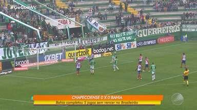 Bahia empata com Chapecoense e completa cinco jogos sem vencer no Brasileirão - Os jogadores tiveram folga nesta segunda-feira (29).