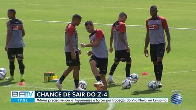 Vitória embarca para Florianópolis na manhã desta segunda, 29 - A equipe tem chance de sair da zona de rebaixamento se vencer o Figueirense na terça-feira (30).