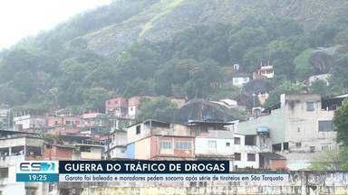 Adolescente é baleado durante tiroteio no morro da Boa Vista, em Vila Velha, ES - Menino foi socorrido pelo Serviço de Atendimento Móvel de Urgência (Samu). Polícia Militar reforçou o policiamento da região.