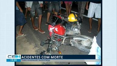 Acidentes com morte no Cariri, Sertão-Central e Inhamuns - Confira mais notícias em g1.globo.com/ce