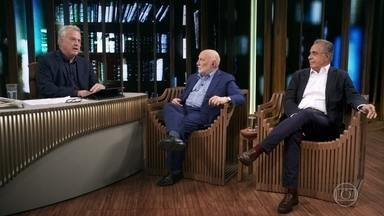 Roberto D'ávila e Domenico de Masi falam sobre a aplicação do ócio criativo - Roberto afirma que não pensa em se aposentar do trabalho criativo como jornalista