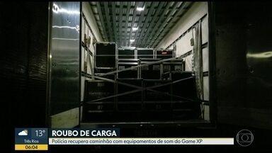 Polícia recupera equipamento de som da Game XP roubado - Carga avaliada em R$ 600 mil foi recuperada em Campo Grande.