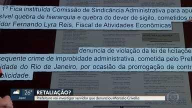 Prefeitura abre sindicância para investigar servidor que denunciou prefeito do Rio - A prefeitura abriu sindicância para investigar servidor público que fez o pedido de impeachment do prefeito Marcelo Crivella.
