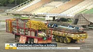 Controladoria-Geral do Estado vai investigar todos os contratos da Suderj - GloboNews descobriu contrato com o funcionário de uma gráfica para contratar porteiros.