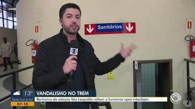 Após interdição, banheiros da estação São Leopoldo da Trensurb voltam a funcionar - Passageiro encontrou as portas fechadas e acabou passando mal na estação.