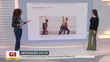 G1 no BDMG: novo espetáculo do Grupo Corpo homenageia Gilberto Gil - Montagem reúne elementos da cultura afro-brasileira.