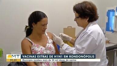 Rondonópolis recebem 30 mil doses extras de vacina contra H1N1 - Rondonópolis recebem 30 mil doses extras de vacina contra H1N1