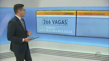 Inscrições do concurso público da Prefeitura de Campinas terminam nesta quarta - Salários variam de R$ 2.156 a R$ 8.232,52. Pagamento pode ser feito até quinta-feira (1º).