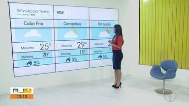 Confira a previsão do tempo para o interior do Rio - Veja as temperaturas para esta quarta-feira (31).