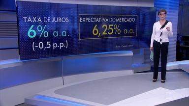 Bancos Centrais do Brasil e dos Estados Unidos cortam a taxa básica de juros da economia - Por aqui, a inflação baixa, a economia parada e a aprovação da reforma da previdência em primeiro turno foram as justificativas para a decisão.