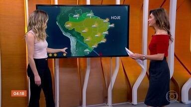 Risco é de temporal no Sul do país nesta quinta-feira - No restante do Sul e em Mato Grosso do Sul, o destaque é a ventania. O dia deve ficar ensolarado no Sudeste.
