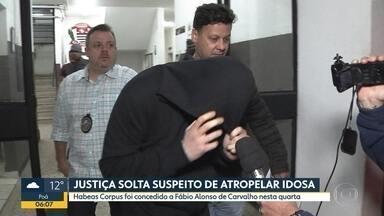 Motorista que matou idosa é solto - Habeas corpus foi concedido a Fábio Alonso de Carvalho na tarde desta quarta-feira.