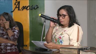 Vice Maria Paula toma posse como prefeita de Paço do Lumiar - Ela foi empossada em uma cerimônia na Câmara de Vereadores depois do prefeito Domingos Dutra sofrer um AVC e ainda estar se recuperando.