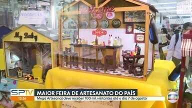 Começa a maior feira de artesanato do país - Mega Artesanal vai até quarta-feira (07), no São Paulo Expo.