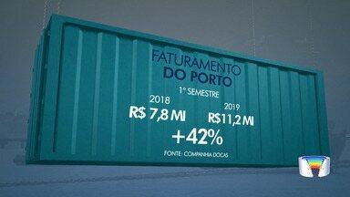 Cresce movimentação no porto de São Sebastião - Faturamento do terminal cresceu 42% no 1º semestre deste ano.