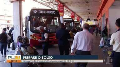 Prefeitura de Petrópolis sanciona reajuste de passagem para R$ 4,40 - Empresas pediam que passagem fosse de R$ 4,55.
