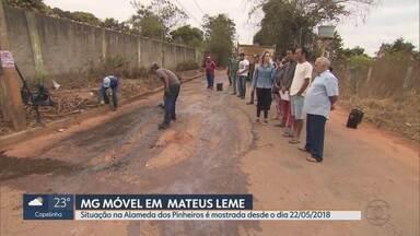 MG Móvel acompanha entrega de obra em Mateus Leme - Um ano e três meses depois da primeira ida do MG Móvel ao local, Prefeitura atendeu à reivindicação dos moradores.