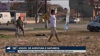 Jogos de aventura e natureza são realizados no litoral paranaense - As competições vão passar por várias cidades até o fim do ano.