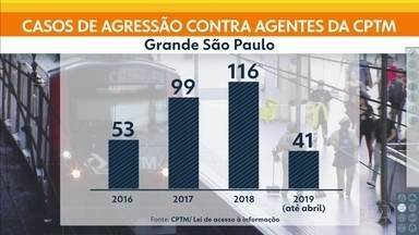 Dados mostram que ocorre agressão a funcionário da CPTM a cada três dias - Em 2019, até abril, foram 41 casos. Na semana passada um segurança foi agredido por ambuantes e acabou morrendo.