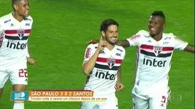 São Paulo vence o Santos no Morumbi com bela atuação de Pato - São Paulo vence o Santos no Morumbi com bela atuação de Pato