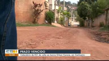 Calendário do ES1: ruas do bairro Gilson Carone, em Cachoeiro, ainda não foram asfaltadas - Calendário virtual foi marcado mais uma vez.