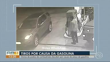 Câmeras de segurança registram tiroteio em posto de gasolina em Garanhuns - Dono de posto de combustíveis é suspeito de atirar contra outro comerciante por causa do preço da gasolina.