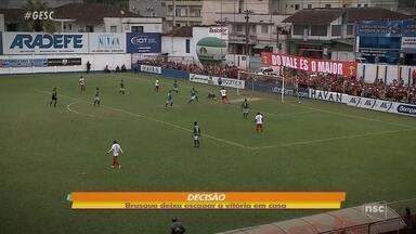 Brusque e Manaus empatam partida de ida na final da Série D - Brusque e Manaus empatam partida de ida na final da Série D