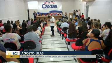 """Caxias realiza campanha de combate à violência contra a mulher - Tema da campanha na cidade é """"Em briga de marido e mulher, pode sim meter a colher""""."""