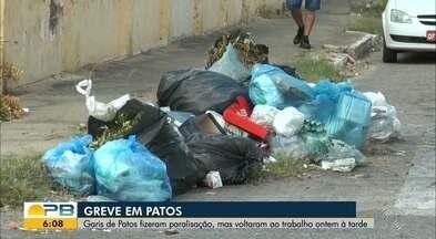 Garis suspendem greve e voltam ao trabalho em Patos, PB, após acordo e pagamento - Garis da cidade de Patos haviam paralisado limpeza urbana desde a sexta-feira.