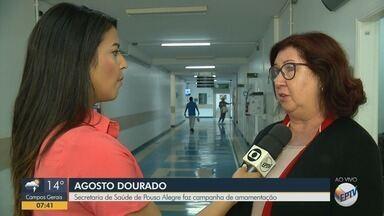 Secretaria de Saúde de Pouso Alegre faz campanha de amamentação - Secretaria de Saúde de Pouso Alegre faz campanha de amamentação