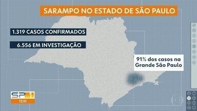 1319 casos de sarampo foram confirmados no Estado - Grande São Paulo registrou 91% dos casos