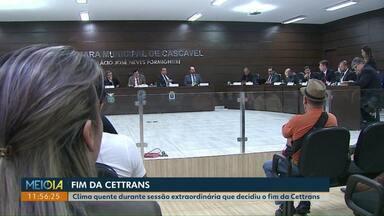 Em sessão extraordinária, vereadores aprovam projeto que prevê extinção da Cettrans - A Cettrans dará lugar a autarquia Transitar.