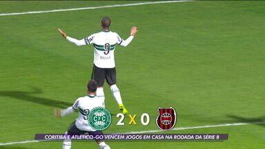 Coritiba e Atlético-GO vencem jogos em casa na rodada da Série B - Coritiba e Atlético-GO vencem jogos em casa na rodada da Série B