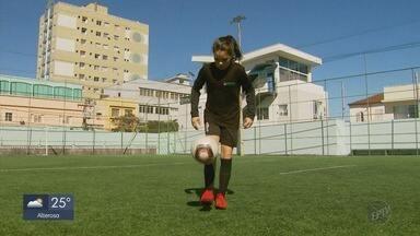 Menina de Poços de Caldas é selecionada para fazer parte de time feminino da Ponte Preta - Menina de Poços de Caldas é selecionada para fazer parte de time feminino da Ponte Preta