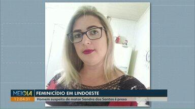Homem confessa ter matado esposa na presença dos filhos - O crime foi no dia 04 de agosto em Lindoeste. Sandra Nobre dos Santos estava com o filho menor no colo quando foi morta.