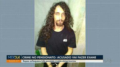Homem que acatou jovens à facadas vai passar por exame de sanidade mental - Crime foi num pensionado na Zona 7, em Maringá.