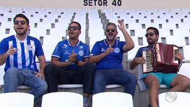 Torcida cria paródia com música de Alceu Valença para incentivar o Confiança - Aproveitando embalo do time na Série C, eles querem ver cântico ecoando na Arena Batistão.