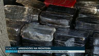 Polícia encontra crack e cocaína em apreensões na região - Parte da droga apreendida estava escondida em fundos falsos de caminhões no pátio de um posto de combustíveis de Santa Terezinha de Itaipu.