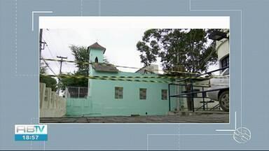 Teto da Capela São Sebastião desaba em Caruaru - Apenas imagens de santos e alguns equipamentos ficaram danificados.