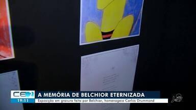 Exposição em gravura feita por Belchior faz homenagem a Carlos Drummond - Confira mais notícias em g1.globo.com/ce