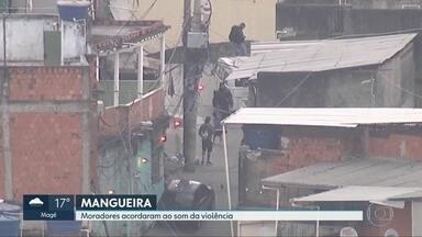 Moradores da Mangueira acordam com o som da violência - Tiros começaram antes do dia amanhecer quando bandidos atacaram a base da UPP.