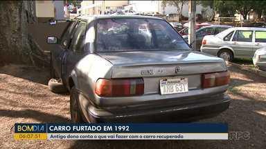 Homem encontra carro roubado em 1992 - Antigo dono conta o que vai fazer com o carro recuperado.