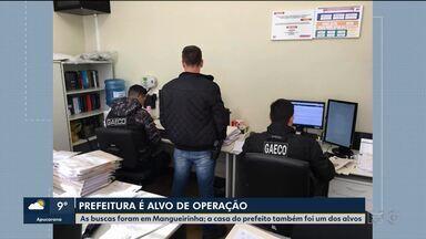 Prefeitura de Mangueirinha é alvo de operação policial - As buscas foram em Mangueirinha; a casa do prefeito também foi um dos alvos.
